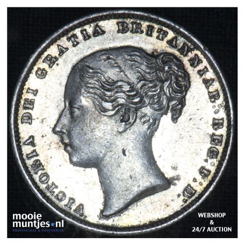 shilling - Great Britain 1864 (die# 32) (KM 743.3) (kant B)