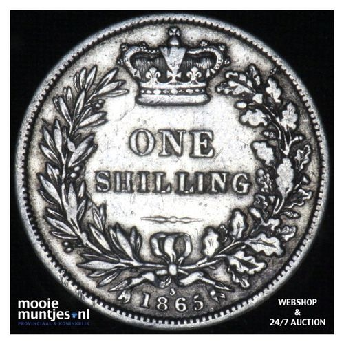 shilling - Great Britain 1865 (die# 3) (KM 743.3) (kant A)