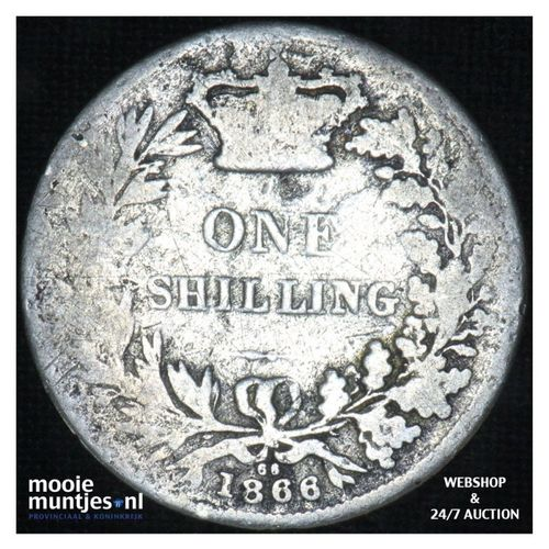 shilling - Great Britain 1866 (die# 66) (KM 743.3) (kant A)