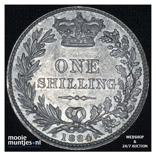 shilling - Great Britain 1884 (KM 743.4) (kant A)