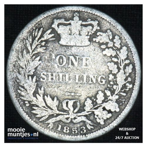 shilling - Great Britain 1853 (KM 743.1) (kant A)