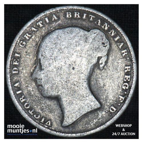 shilling - Great Britain 1853 (KM 743.1) (kant B)