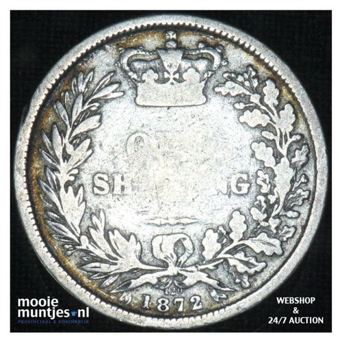 shilling - Great Britain 1872 (die# 120) (KM 743.2) (kant A)