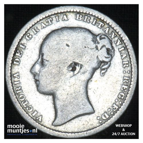 shilling - Great Britain 1872 (die# 120) (KM 743.2) (kant B)