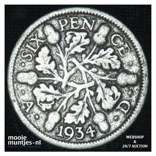 6 pence  - Great Britain 1934 (KM 832) (kant A)