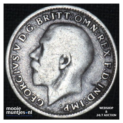 3 pence - Great Britain 1918 (KM 813) (kant B)