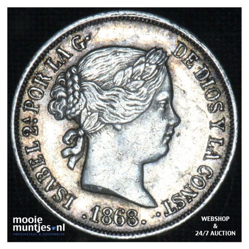 10 centimos - decimal coinage - - Philippines 1868 (KM 145) (kant A)