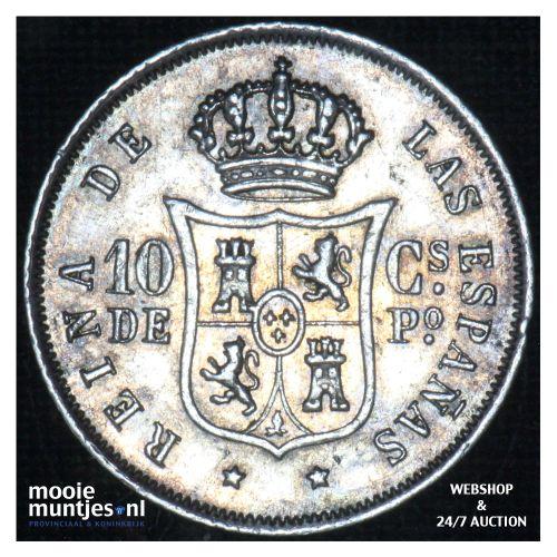 10 centimos - decimal coinage - - Philippines 1868 (KM 145) (kant B)