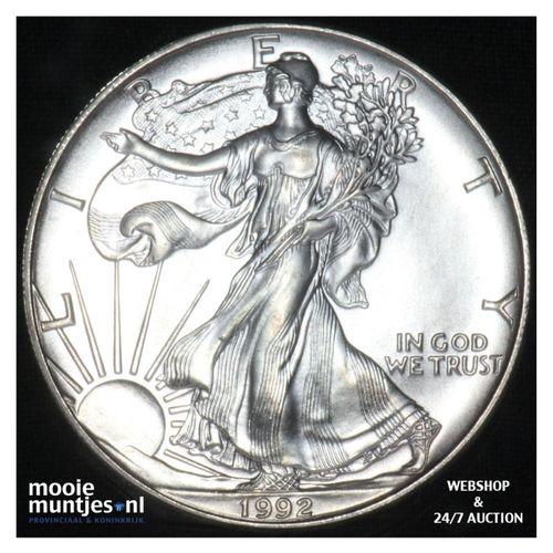American eagle bullion coin -  - United States of America/Silver dollar 1992 (KM