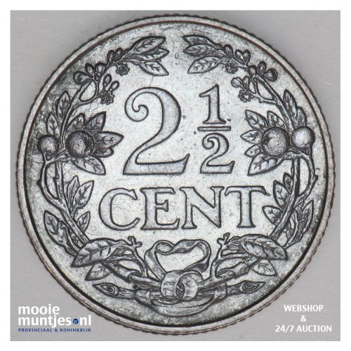 2½ cent - Wilhelmina - 1929 (kant B)