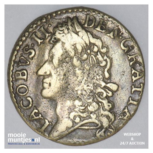 shilling - gun money coinage - - Ireland 1689 NOV (KM 94) (kant B)