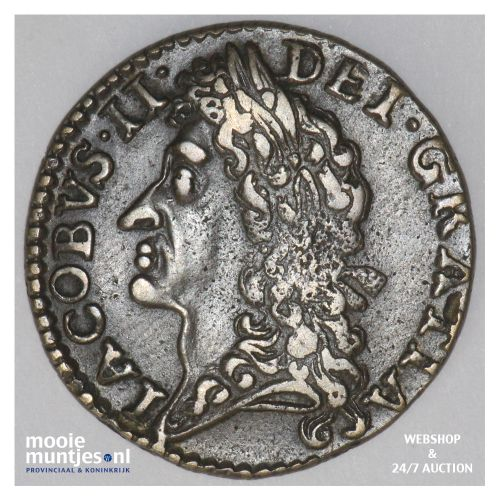 shilling - gun money coinage - - Ireland 1689 DEC (KM 94) (kant B)