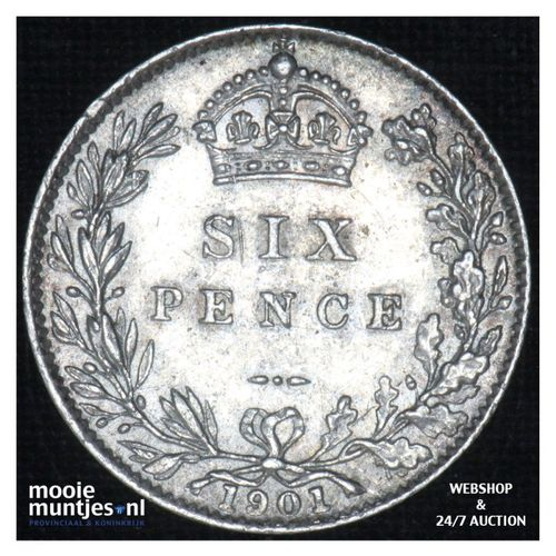 6 pence  - Great Britain 1901 (KM 779) (kant A)