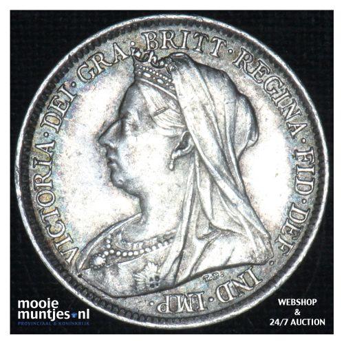 6 pence  - Great Britain 1901 (KM 779) (kant B)