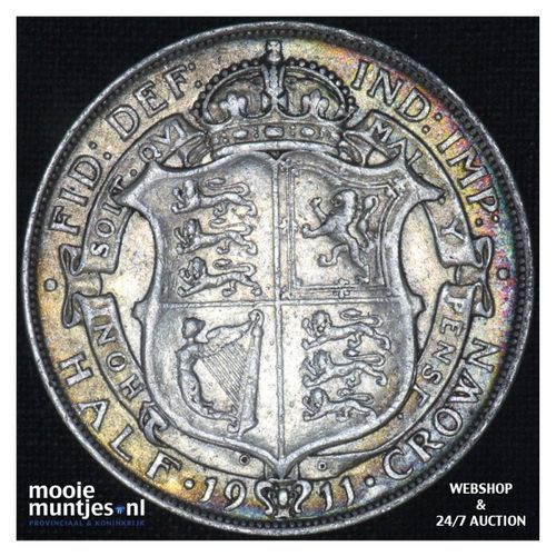 1/2 crown - Great Britain 1911 (KM 818.1) (kant A)