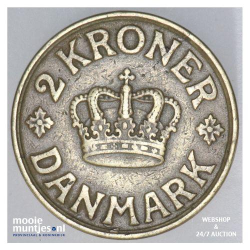 2 kroner - Denmark 1925 (KM 825.1) (kant B)