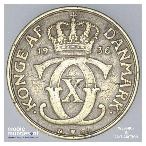 2 kroner - Denmark 1936 (KM 825.2) (kant A)