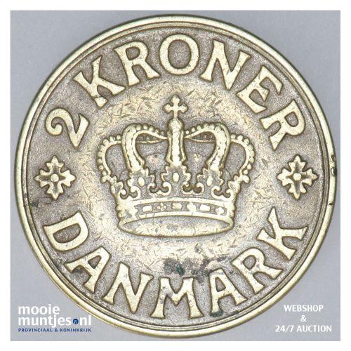 2 kroner - Denmark 1936 (KM 825.2) (kant B)