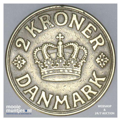 2 kroner - Denmark 1938 (KM 825.2) (kant B)