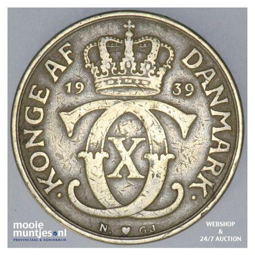 2 kroner - Denmark 1939 (KM 825.2) (kant A)