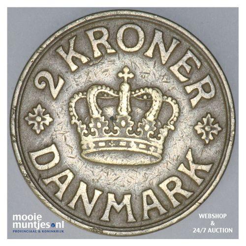 2 kroner - Denmark 1939 (KM 825.2) (kant B)