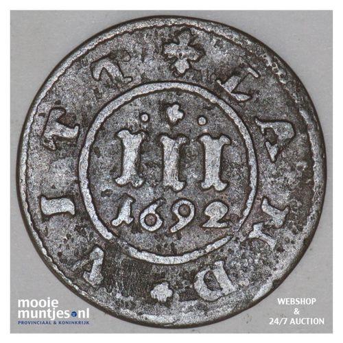 3 pfennig - - German States/Mecklenburg-Gustrow 1692 (KM 109) (kant A)