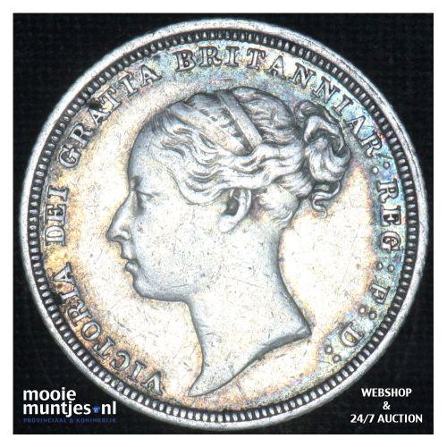 6 pence - Great Britain 1881 (KM 757) (kant B)