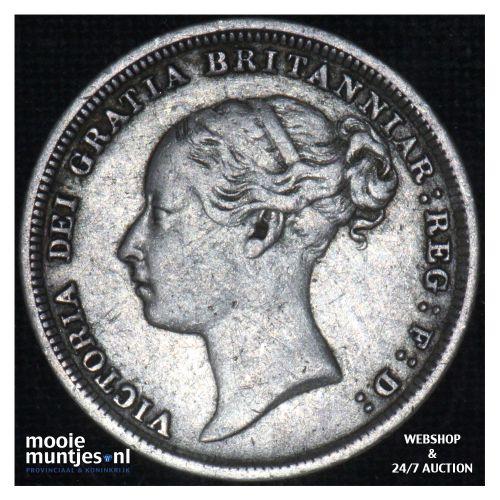 6 pence - Great Britain 1883 (KM 757) (kant B)