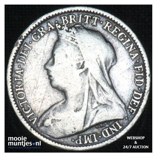 6 pence - Great Britain 1899 (KM 779) (kant B)