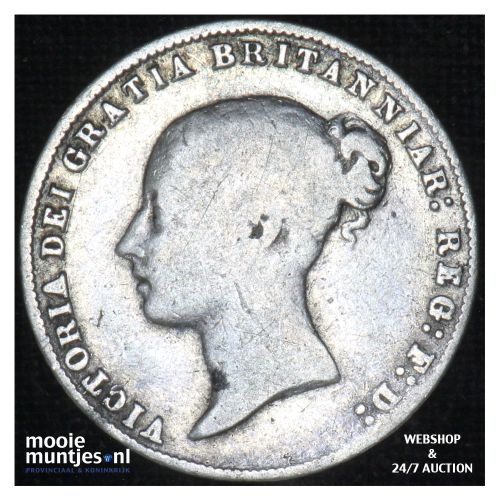 6 pence - Great Britain 1859 (KM 733.1) (kant B)