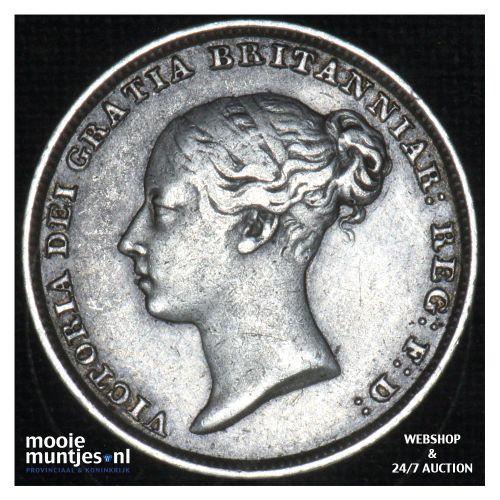6 pence - Great Britain 1851 (KM 733.1) (kant B)