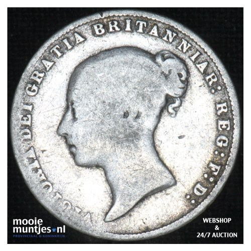 6 pence - Great Britain 1866 (KM 733.2) (kant B)