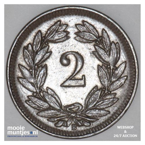 2 rappen - - Switzerland 1908 B (KM 4.2) (kant B)