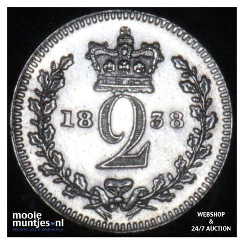2 pence - Great Britain 1838 (KM 729) (kant A)