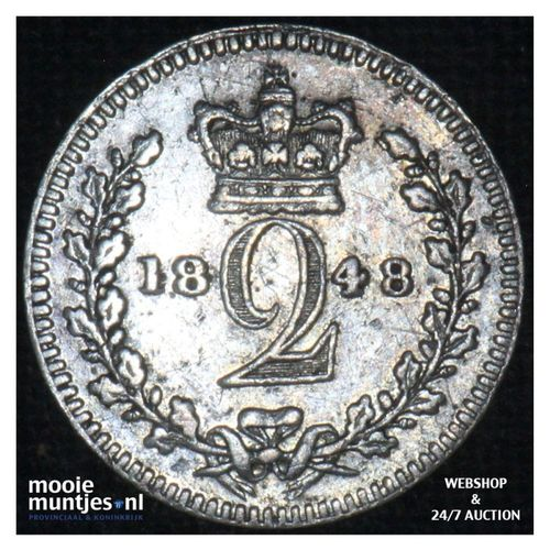 2 pence - Great Britain 1848 (KM 729) (kant A)