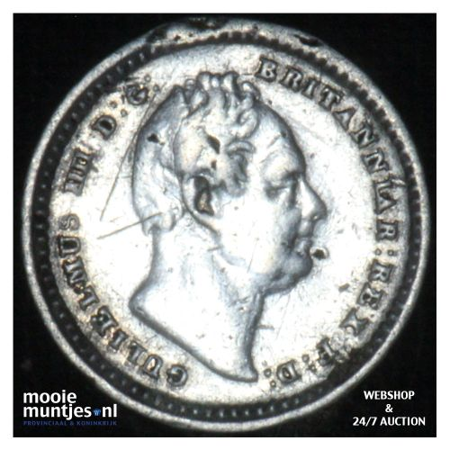 1-1/2 pence - Great Britain 1835 over 34 (KM 719) (kant B)