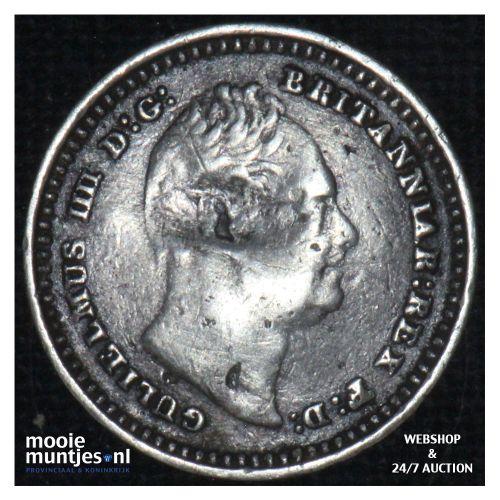 1-1/2 pence - Great Britain 1836 (KM 719) (kant B)