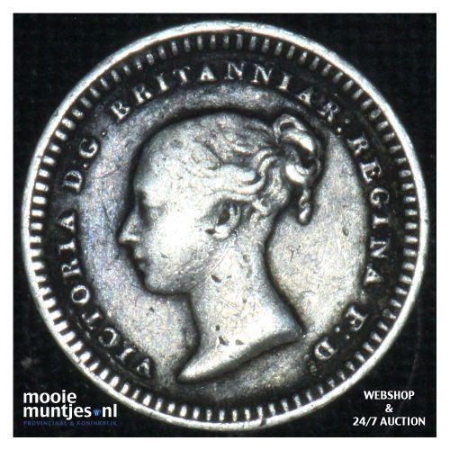 1-1/2 pence - Great Britain 1843 (KM 728) (kant B)