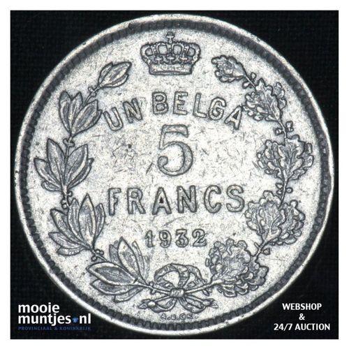 5 francs (5 frank) - Belgium 1932 (KM 97.1) (kant A)
