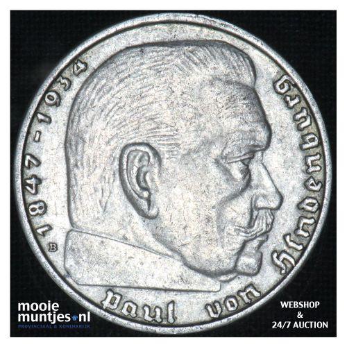 2 reichsmark - Third Reich 1938 B (KM 93) (kant B)