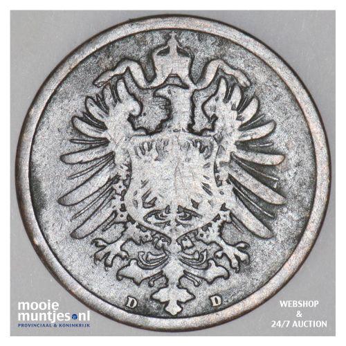 2 pfennig - Germany 1874 D (KM 2) (kant B)