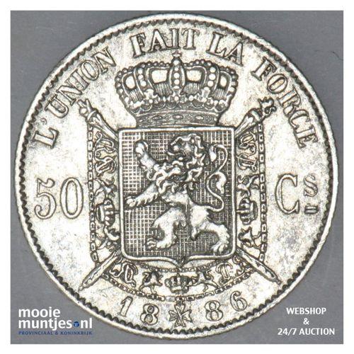 50 centimes - Belgium 1886 (KM 26) (kant A)