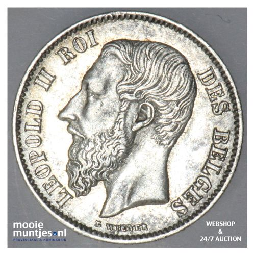 50 centimes - Belgium 1886 (KM 26) (kant B)