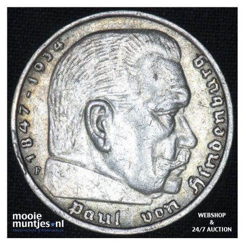 5 reichsmark - Third Reich 1936 F (KM 86) (kant B)