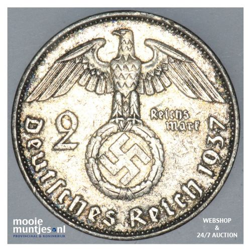 2 reichsmark - Third Reich 1937 A (KM 93) (kant A)