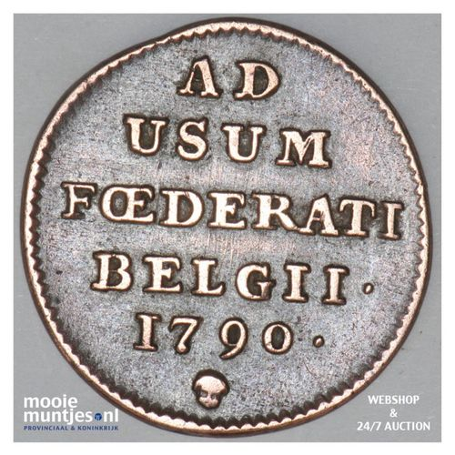 liard (oord) - (insurrection coinage) - Austrian Netherlands 1790 (b) (KM 44) (k