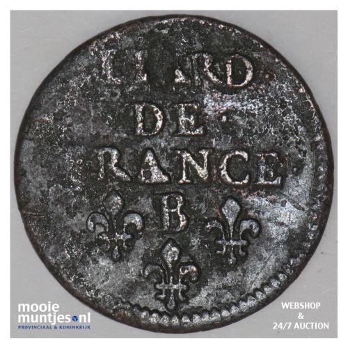 liard - France 1656 B (Rouen) (KM 192.2) (kant B)