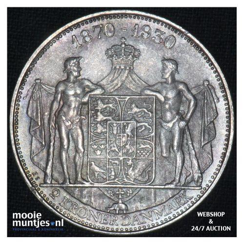 2 kroner - Denmark 1930 (KM 829) (kant B)
