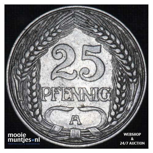 25 pfennig - Germany 1910 A (KM 18) (kant B)