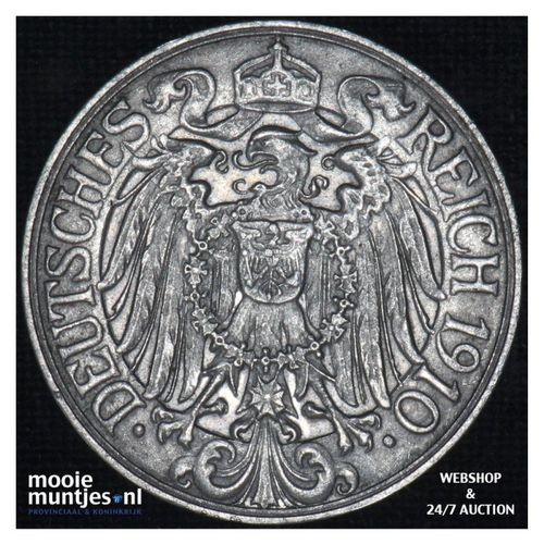 25 pfennig - Germany 1910 F (KM 18) (kant A)
